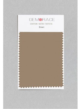 Brown Color in Satin Fabric