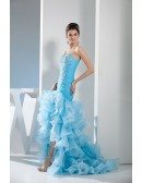 Mermaid Sweetheart Sweep Train Tulle Prom Dress With Beading