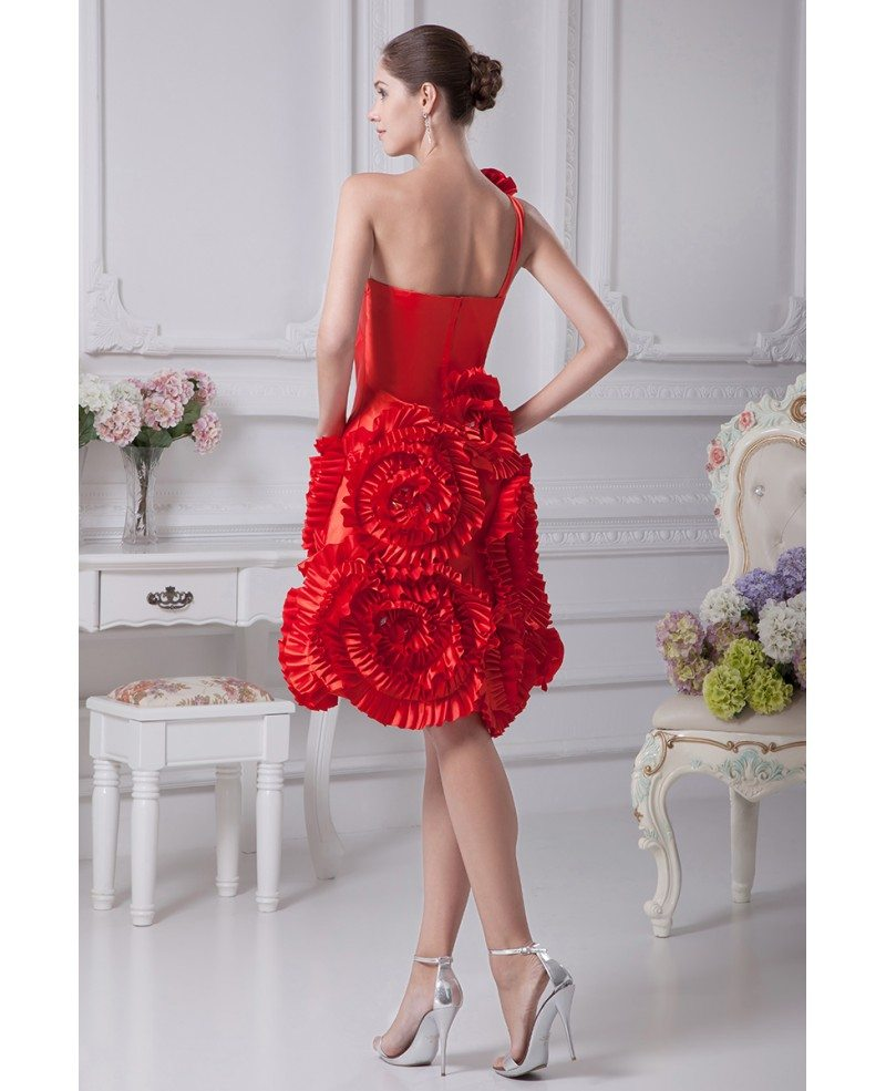 Beautiful Flowers For Weddings: Red Reception Short Wedding Dresses Modern Beautiful Red