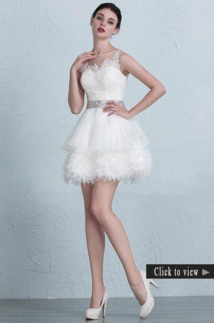 short cute wedding dress