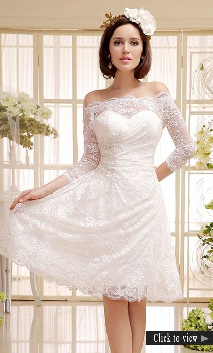 short boho wedding dress