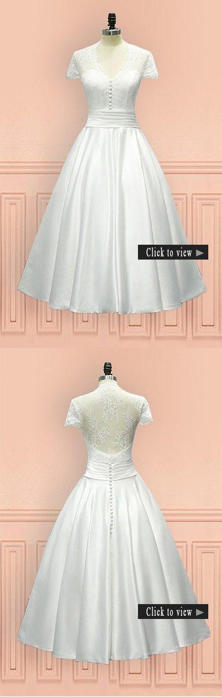 short vow renewal wedding dress