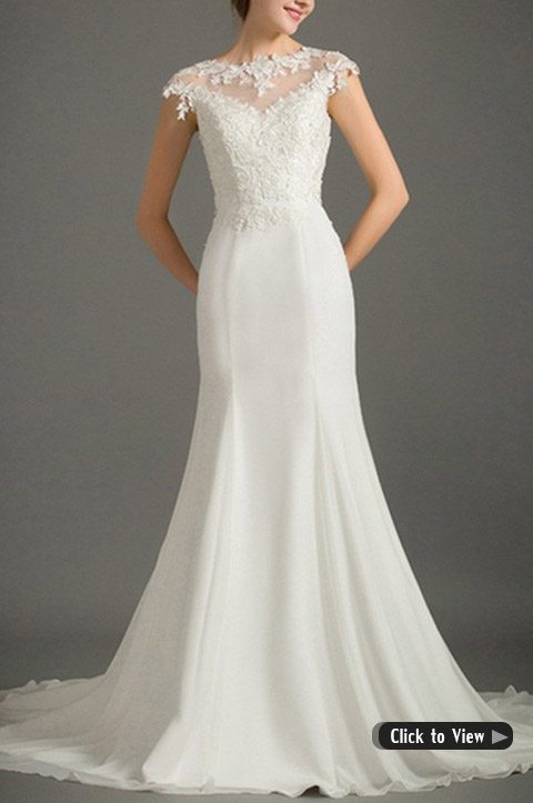 high neck wedding dress