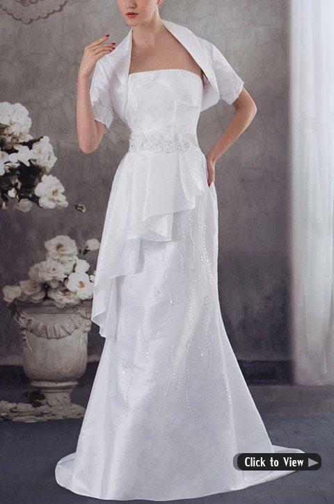 wedding dress with jacket