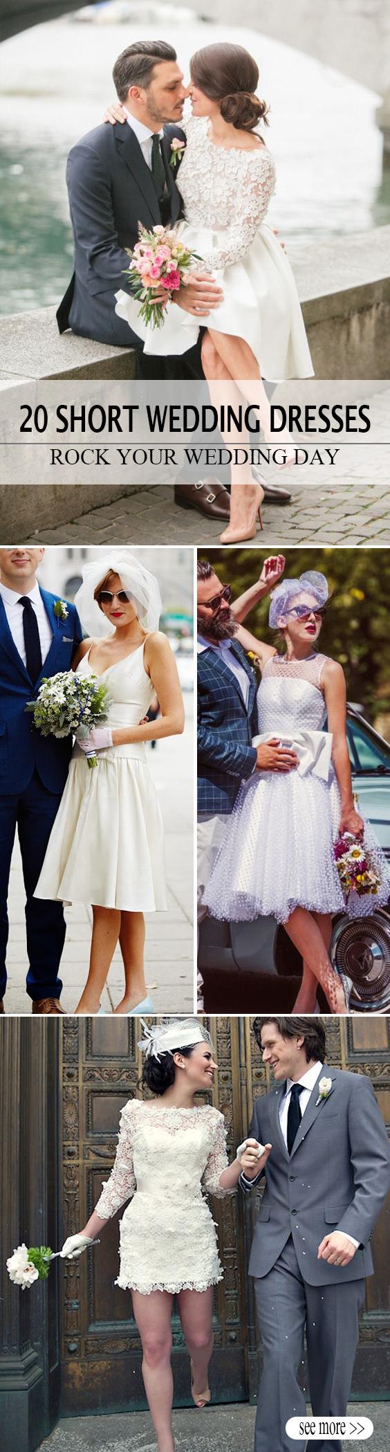 stunning short wedding dresses