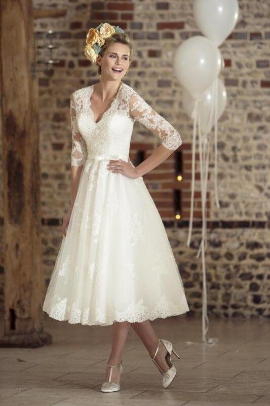 Short Wedding Dress For Renewal