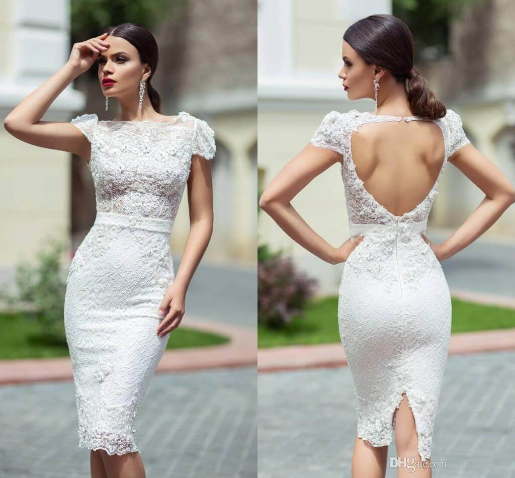 New Hairstyle For Wedding Ceremony: 45 Amazing Short Wedding Dress For Vow Renewal