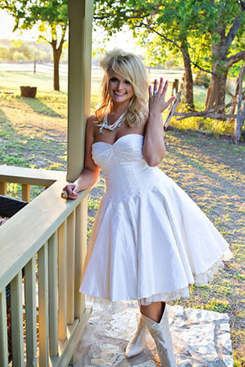 Short Wedding Dress with Boots