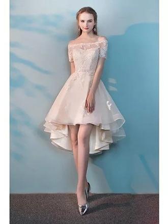 white hoco party dress