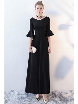 long black party dress