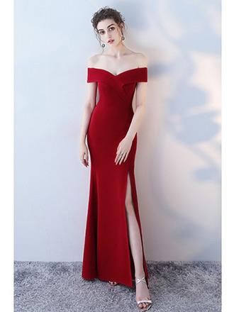 off shoulder party dress