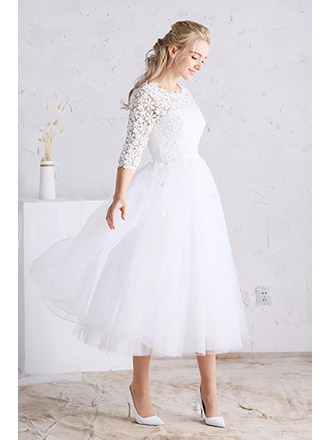 45 Short Country Wedding Dress Perfect With Cowboy Boots Short Or High Low Styles